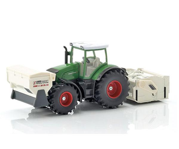 Miniatura tractor FENDT 936 Vario con accesorios de construcción de carreteras - Ítem3