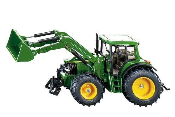 Miniatura tractor JOHN DEERE 6820 con pala frontal