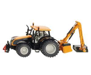 SIKU 1:32 Miniatura tractor VALTRA con brazo desbrozador KUHN EP 7483 TP