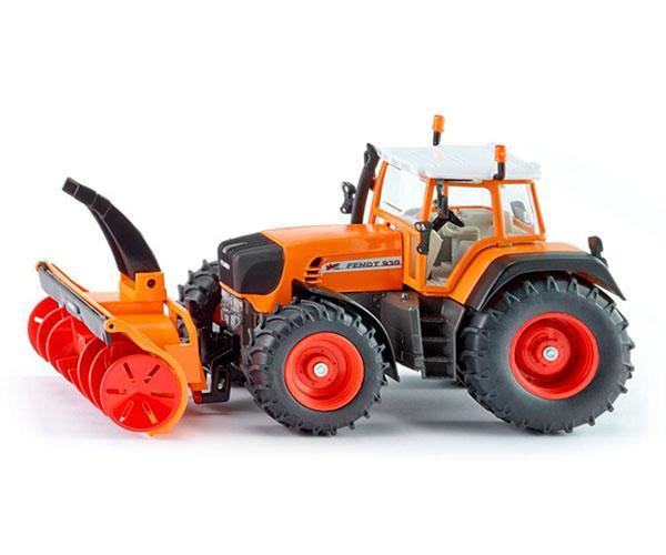 Miniatura tractor servicios FENDT 930 Vario con cortadora de nieve Siku 3660