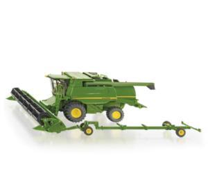 Miniatura cosechadora JOHN DEERE T670i con corte y carro