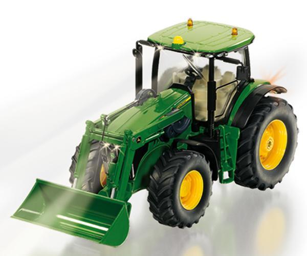 Tractor RC radio control JOHN DEERE 7R con pala y mando