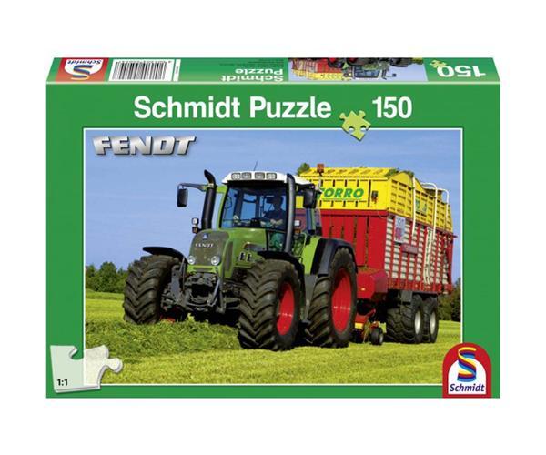 Puzzle tractor FENDT con remolque de 150 piezas