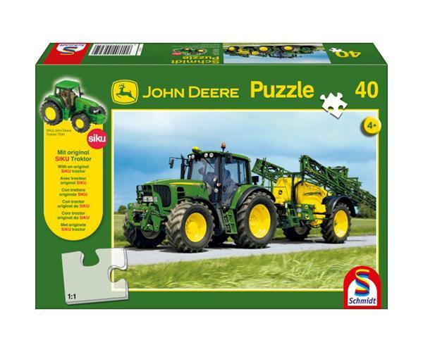 Puzzle tractor JOHN DEERE 6630 con pulverizador JOHN DEERE de 40 piezas