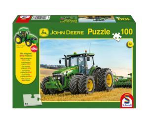 Puzzle tractor JOHN DEERE 8270R con ruedas gemelas de 100 piezas