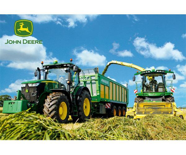 Puzzle tractor JOHN DEERE con remolque JOSKIN y picadora JOHN DEERE Schmidt 56044 - Ítem1