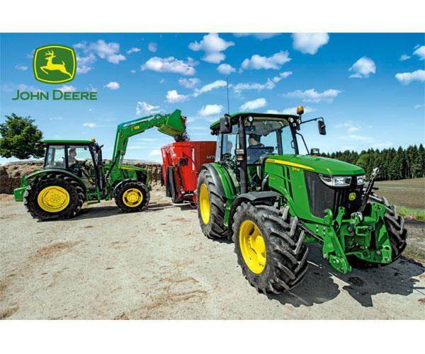 Puzzle tractores JOHN DEERE con unifeed de 150 piezas Schmidt 56045 - Ítem1