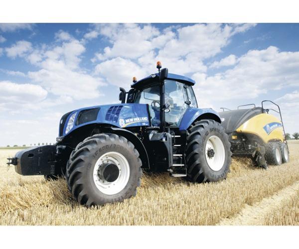 Puzzle tractor NEW HOLLAND con empacadora NEW HOLLAND 1290 de 100 piezas - Ítem1