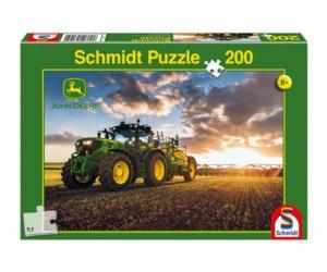 Puzzle tractor JOHN DEERE 6150R con pulverizador Schmidt 56145