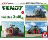 Puzzles tractores y cosechadora FENDT Schmidt 56221