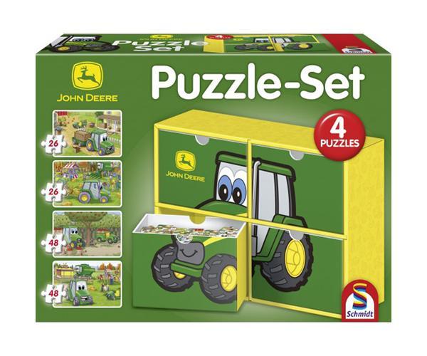 Pack de 4 puzzles JOHN DEERE