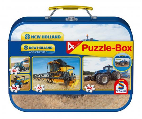 Caja metálica con 4 puzzles NEW HOLLAND