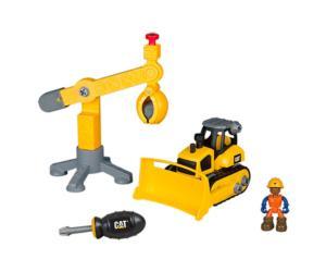 Kit de montaje bulldozer CAT y grúa Toy State 80912