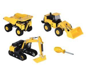 Kit de montaje bulldozer, excavadora y pala cargadora CAT Toy State 80950