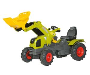 Tractor de pedales CLAAS Axos 340 con pala y neumaticos de goma