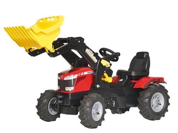 Tractor de pedales MASSEY FERGUSON 8650 con pala y neumaticos goma