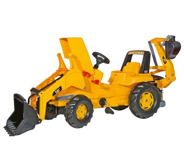 Tractor de pedales CATERPILLAR con retro y pala - Ítem1