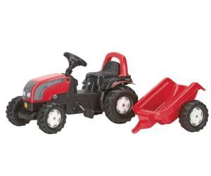 Tractor de pedales VALTRA con remolque