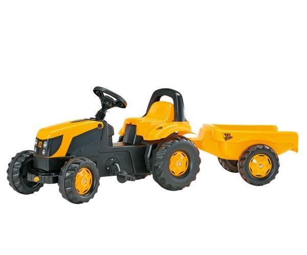 Tractor de pedales JCB con remolque