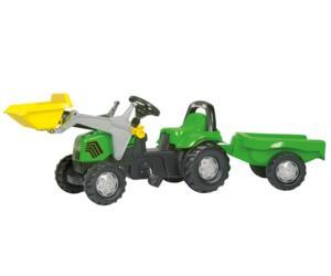 Tractor de pedales DEUTZ-FAHR Agrolux con pala y remolque
