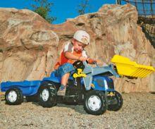 Tractor de pedales NEW HOLLAND TVT 190 con pala y remolque - Ítem1