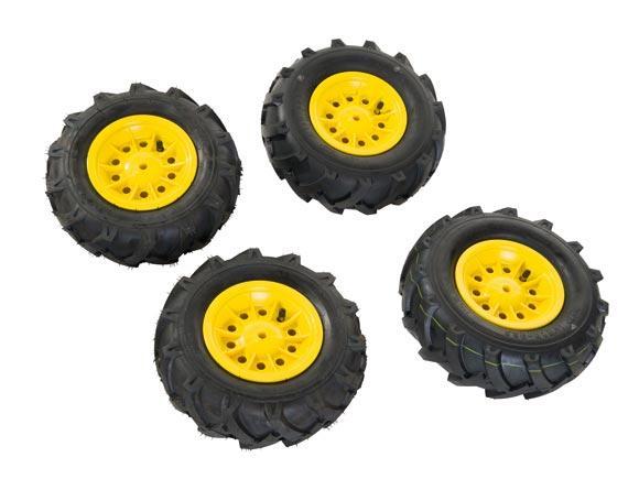 Neumaticos goma llantas amarillas para tractores de pedales