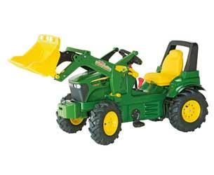 Tractor de pedales JOHN DEERE 7930 con pala y neumáticos de goma
