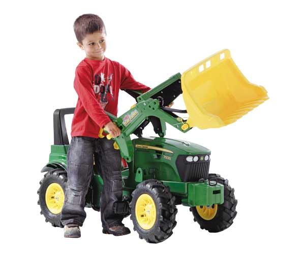 Tractor de pedales JOHN DEERE 7930 con pala y neumáticos de goma - Ítem2