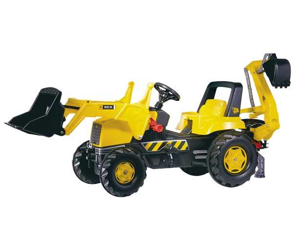 Tractor de pedales JCB con retro y pala