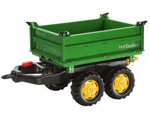 Mega trailer basculante colores John Deere