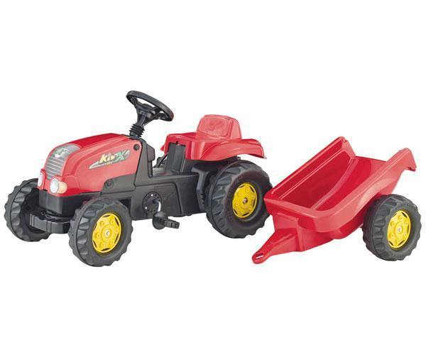tractor de pedales rolly kid x con remolque