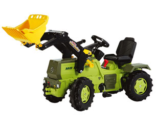 Tractor de pedales MERCEDES BENZ Trac 1500 con pala