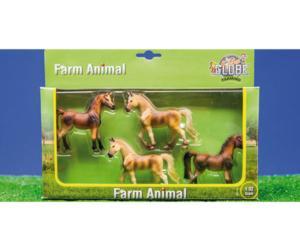 Pack de 4 caballos kids globe farming 57013
