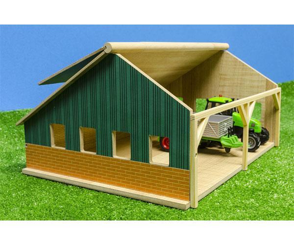 Pack almacén con tres placas solares y tractor con remolque para miniaturas escala 1:50 610048 - Ítem3