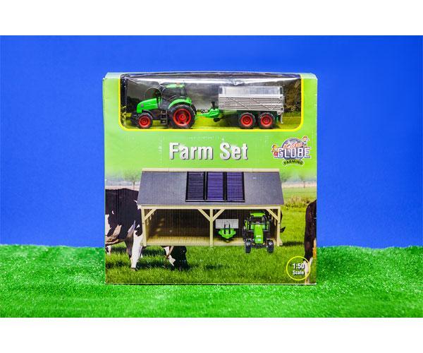 Pack almacén con tres placas solares y tractor con remolque para miniaturas escala 1:50 610048 - Ítem4