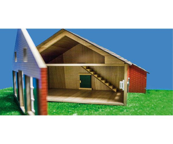 Granja y almacén para miniaturas a escala 1:32 Kids Globe Farming 610111 - Ítem5