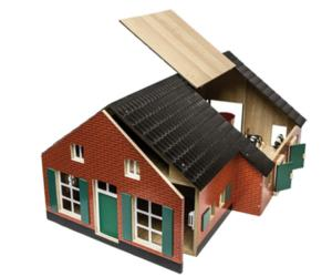 Granja y almacén para miniaturas a escala 1:32 Kids Globe Farming 610111