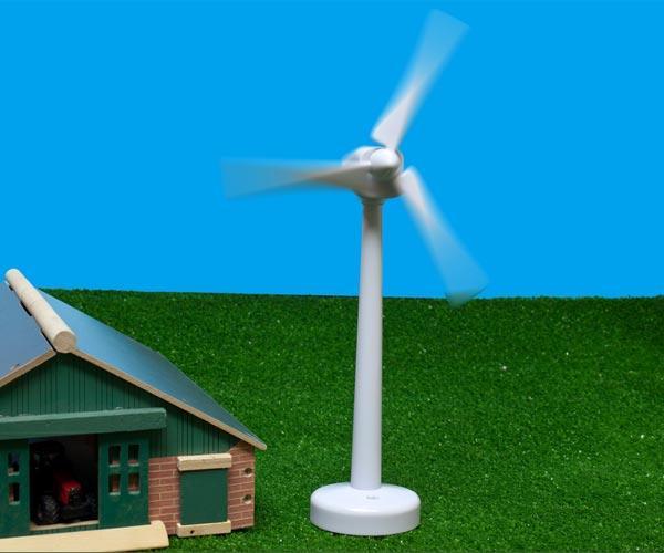 molino de viento en funcionamiento
