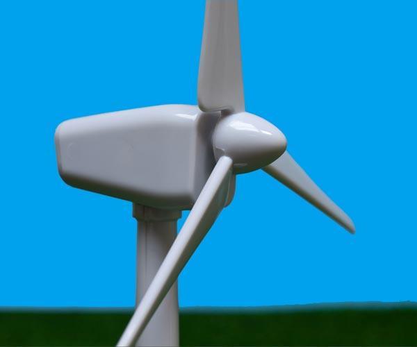 vista lateral molino de viento