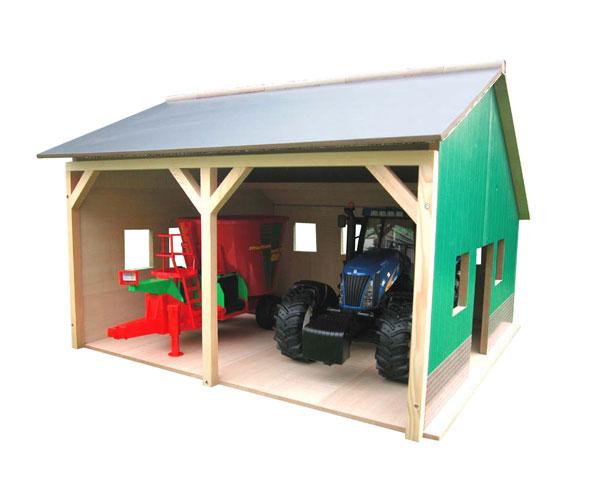 Almacén para 2 tractores de juguete escala 1:16 - Ítem2