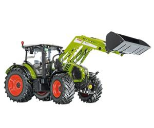 Replica tractor CLAAS Arion 650 con pala