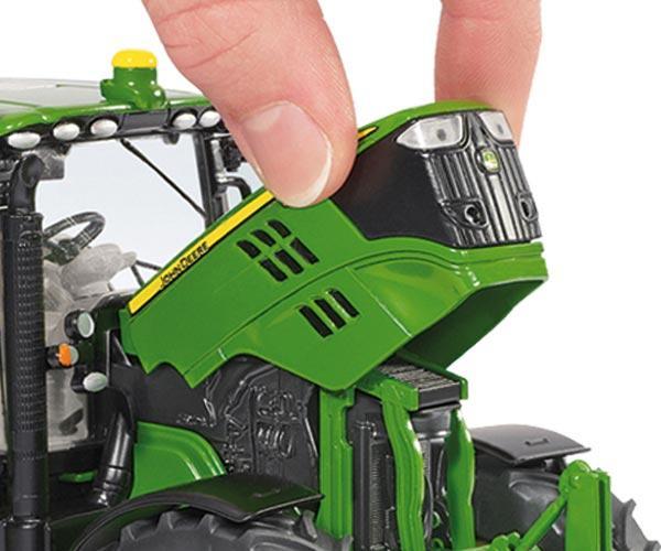 Replica tractor JOHN DEERE 6125R con pala - Ítem1
