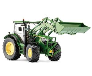 Replica tractor JOHN DEERE 6125R con pala