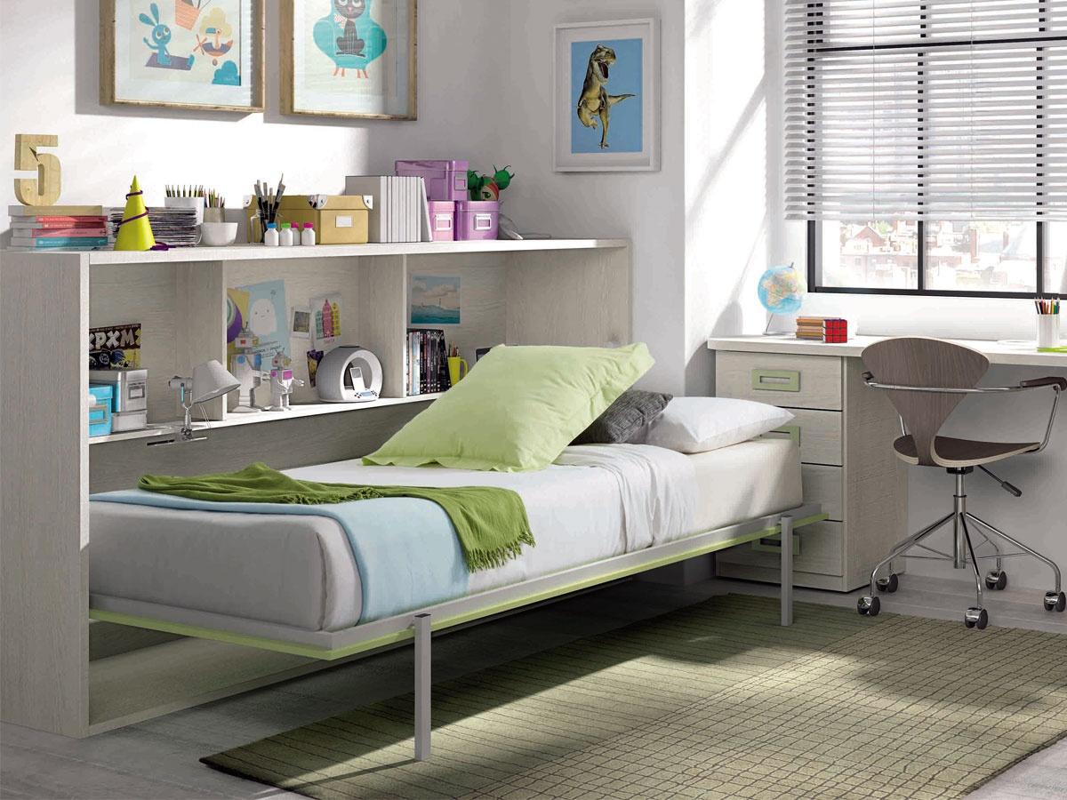 Cama abatible individual for Habitaciones juveniles cama 105