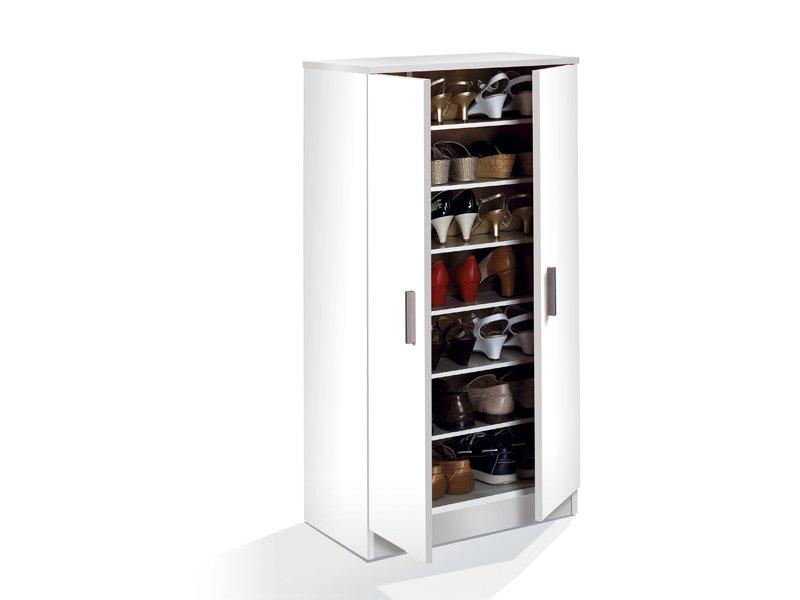 Zapatero con baldas de diferentes alturas para organizar for Muebles de melamina para zapatos
