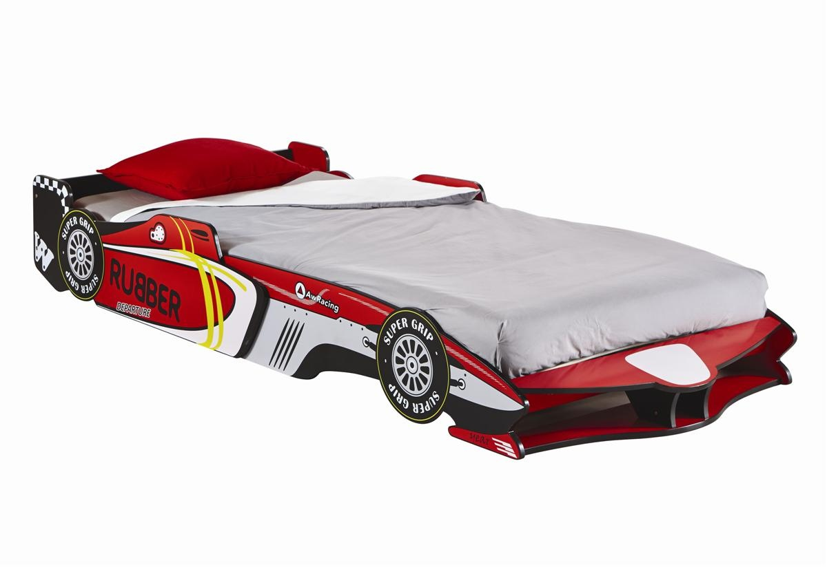 Cama infantil coche f rmula 1 cama de ni o de 90 cms original - Cama coche para ninos ...