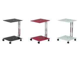 Mesa de cristal con ruedas de estructura cromada en oferta - Mesa auxiliar con ruedas ikea ...