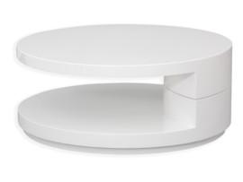 Mesita minimalista circular y giratoria