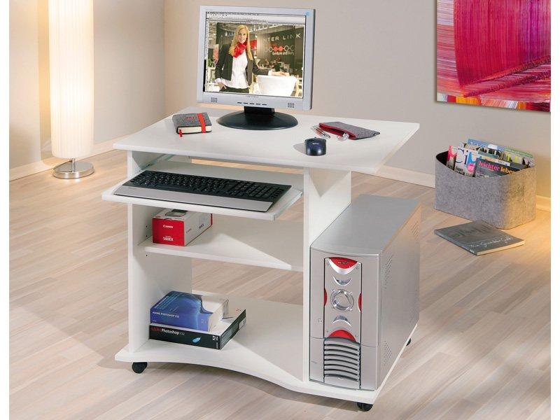 Mesa de ordenador con ruedas de dise o para oficina - Mesa para ordenador con ruedas ...