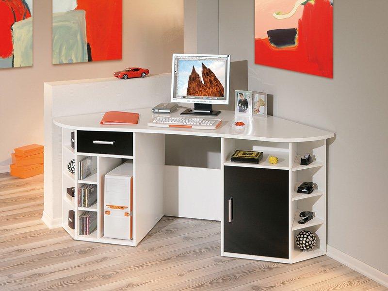 Mesa de escritorio rinconera comprar mesa rinconera de - Mesas estudio cristal ...
